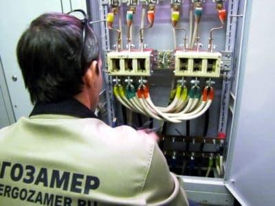Проверка сопротивления изоляции проводов и кабелей.