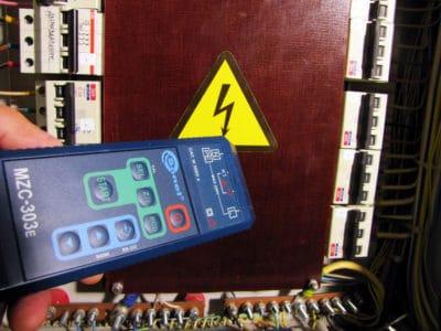 Проверка сопротивления изоляции электросети и заземления.